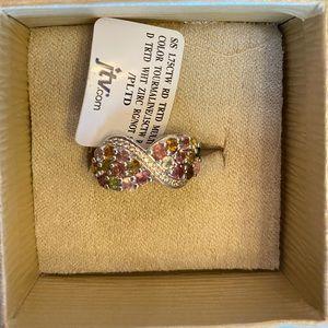 Brand new multi-color tourmaline ring